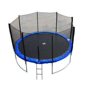 ranger un trampoline avec filet facilement. Black Bedroom Furniture Sets. Home Design Ideas