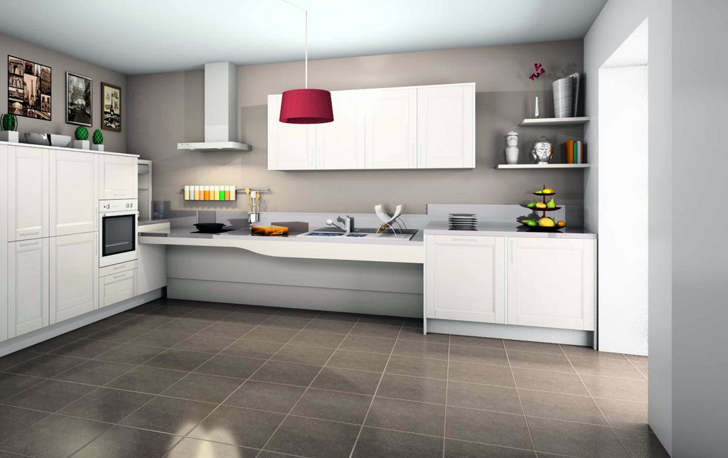 Carrelage cuisine design for Carrelage sol design pour maison