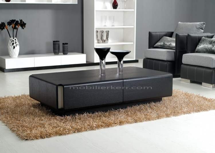 Les différents types de table basse design