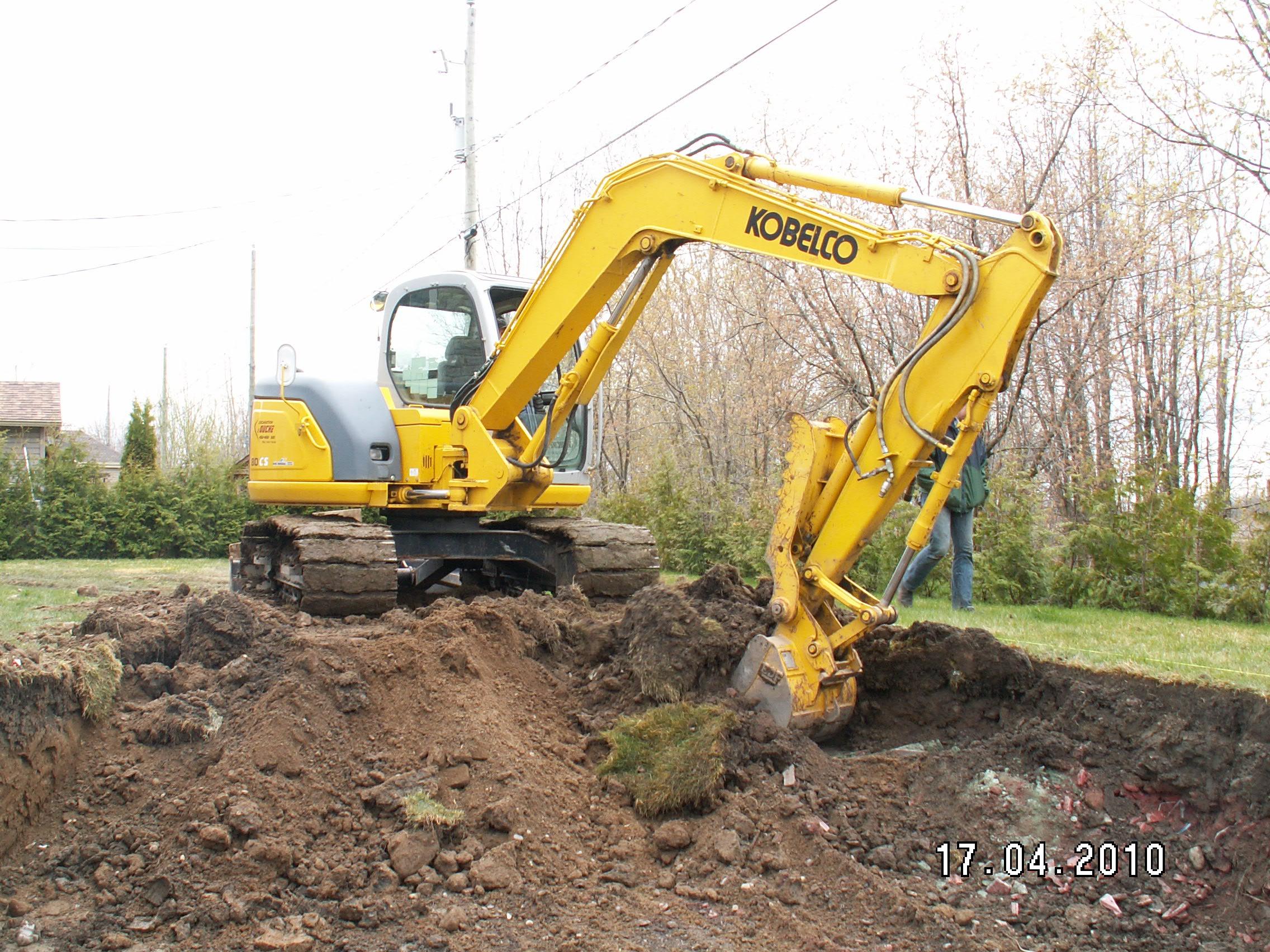 Projet d'excavation avec des équipements performants