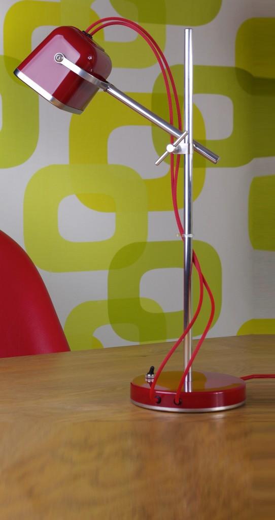 Lampe à poser, Mob, rouge, H60cm - Swabdesign