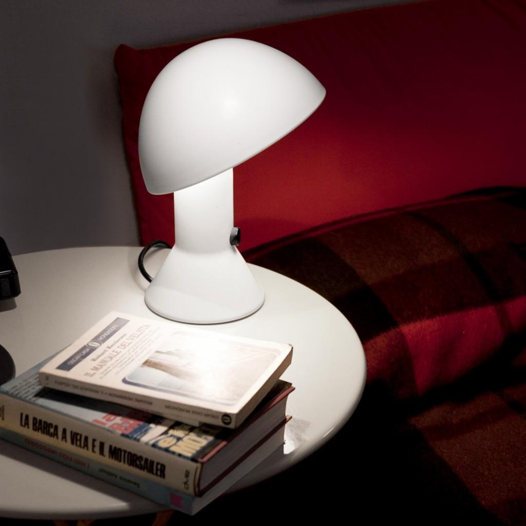 Lampe à poser, ELMETTO, blanc, H28cm - Martinelli-luce