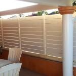 Barrière facile à installer en pvc blanc