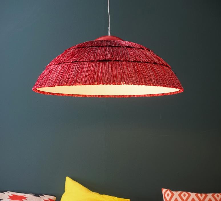Luminaires rouges ou oranges : Suspension Big Pascha, rouge, Fraumaier