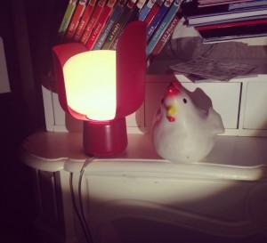 Luminaire rouge : lampe de bureau rouge Blom, FontanaArte