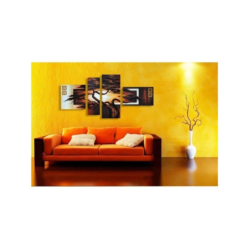 la d coration murale avec des tableaux en m tal. Black Bedroom Furniture Sets. Home Design Ideas