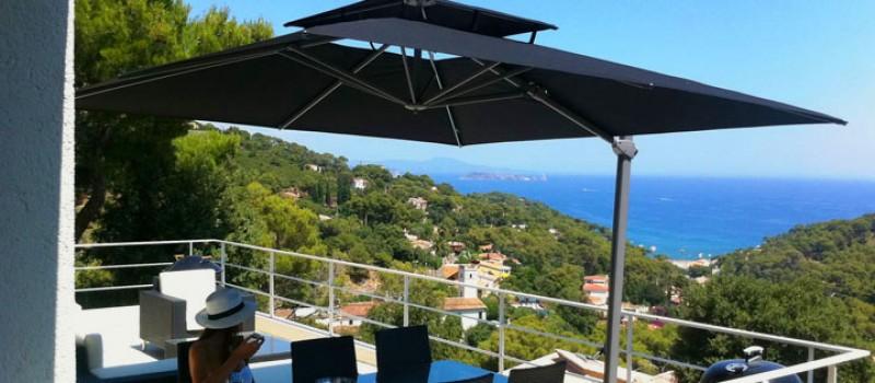 parasol terrasse jardin