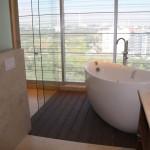 Le béton ciré dans la salle de bain