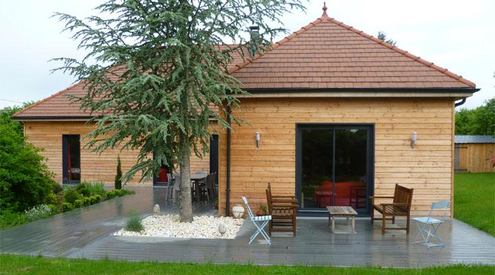 Construction d'une maison à ossature bois en Côte d'Or