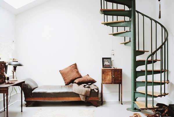 L'escalier en colimaçon : idéal pour les petits espaces !