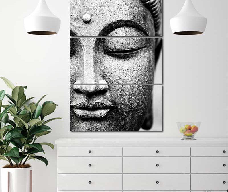 Un Tableau bouddha zen pour décorer un intérieur apaisant